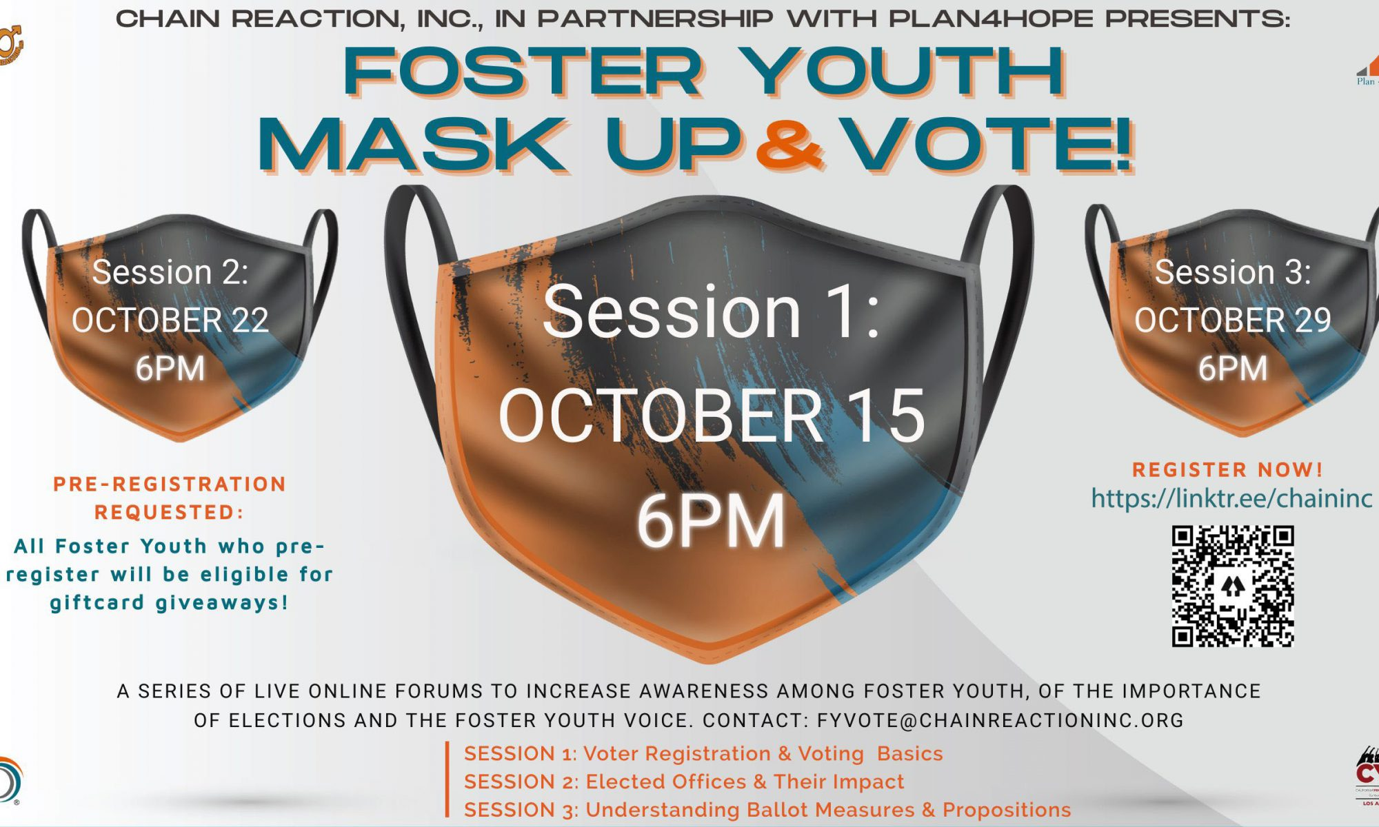 flyer foster youth Mask UP